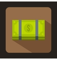 Dollar banknotes bills icon flat style vector image