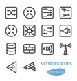 Network Devices Icon Set vector image