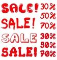 set of inscription sale vector image