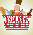 Shopping Basket and Food vector image