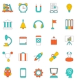 Set Flat Line Icons of School Equipment and Tools vector image
