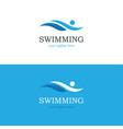 abstract swimming logo vector image