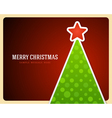 Christmas green tree and star background vector image vector image
