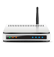 Wi-Fi Router device vector image