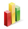 3d bar graph vector image