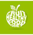 apple logo vector image