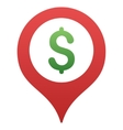 Bank Map Marker Gradient Icon vector image