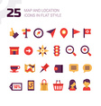Location and Navigation Map Icons vector image