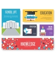 Back to school set of cards design vector image