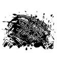 blot spot of black paint vector image