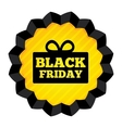 Black Friday Sale label with gift box on white vector image