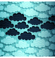 Cloudy Sky Banner vector image
