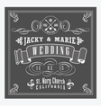 Decorative vintage style invitation vector image