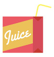 juice box icon flat style vector image