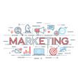 marketing promotion advertisement seo social vector image