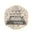 Natural materials banner vector image