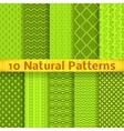 Natural seamless patterns tiling vector image