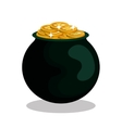 saint patrick day treasure pot vector image