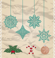 Set Christmas and New Year elements vector image