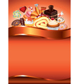 sweets vertical background vector image