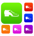 tango shoe set color collection vector image