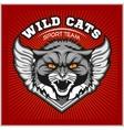 Wild cat head - design for logo and sport emblem vector image