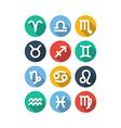 Zodiac Symbol Icons Flat Style vector image
