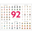 Set of 92 flat profession avatars Engineers and vector image vector image