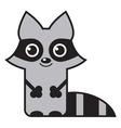 cute raccoon vector image vector image