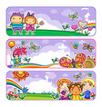 summer camp banners vector image vector image