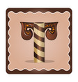 letter t candies chocolate vector image