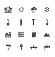 construction equipment icons set vector image