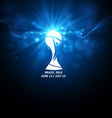 Icon world football cup vector image