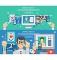 Digital Health Banner Set vector image