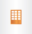 wooden door design element vector image