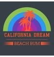 california dream typography vector image