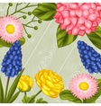 Background with garden flowers Decorative vector image vector image