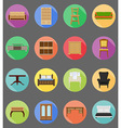 furniture flat icons 20 vector image