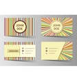 Business card templates with rainbow vector image