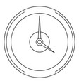 fast clock icon outline style vector image
