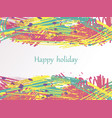 holiday-hatching-pink-yellow-blue vector image