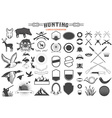 hunting label renerator vector image