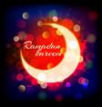 muslimred crescent on abstract background vector image