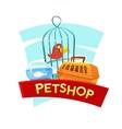 Petshop concept design vector image
