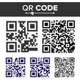 qr code set different types scanning vector image