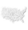 stylized usa map vector image