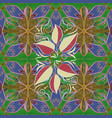 tribal art boho print vintage flower background vector image