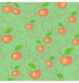 Seamless apple background vector image vector image