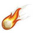 Cartoon fireball and comet flying vector image