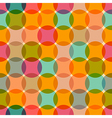 Seamless Retro Circles Colorful Background vector image vector image